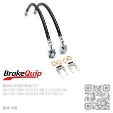 BRAKEQUIP BRAKE HOSE FRONT KIT [HOLDEN WB UTE/PANEL VAN/ONE TONNER]