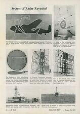 1945 Aviation Article Air Force Use of Radar in WWII & Future Airline Effects