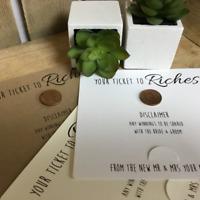 Wedding Table Idea. Wedding Favour. Scratch Card Favor. Personalised Wedding