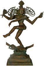 "JAI Shiva Nataraja King Dance Statue 21.5""Vintage Bronze God Hindu Figure 10.3Kg"