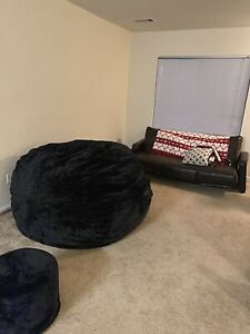 The BigOne Lovesack And Cover And Matching Ottoman