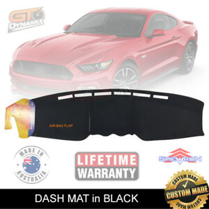 Dash mat for Ford Mustang FM FN Coupe GT OCT/2015-2021 + MY19 in Black DM1423
