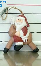 Midwest of Cannon Falls, Eddie Walker, Santa Riding Reindeer; Christmas Ornament