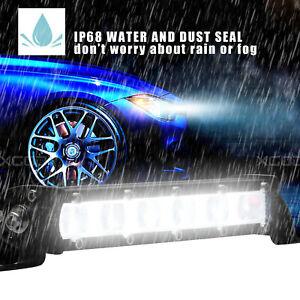 6500K 7 inch Spot Beam Slim LED Work Light Bar Single Row Car SUV Off road Lamps