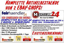2 EBAY Shops Artikel komplett FAIRHAENDLER24 + MEGASELL24 Existenzgründung Paket