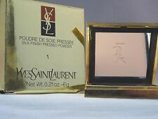 YVES SAINT LAURANT-POUDRE DE SOIE PRESSEE-SILK FINISH PRESSED POWDER-#1- NIB