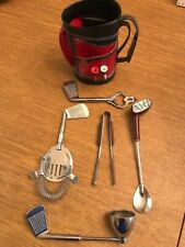 New listing Vintage Golf Club Bag Bar Tool Set Bartender