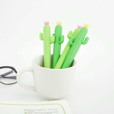 6Pcs Cute Cartoon Cactus plant Gel Pens Office School Student Supply Stationery