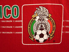 MEXICO flag red XL soccer T shirt Federacion Mexicana Futbol AC World Cup ADIDAS