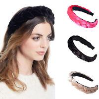 Women Padded Velvet Wide Headband Twist Hairband Hair Band Hoop Hair Accessories