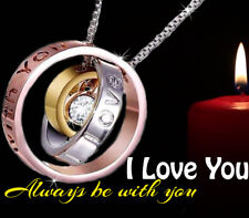 Romantic Women Gifts for her silver ring I love you christmas presents wife Sis