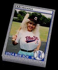 1990 UTICA BLUE SOX PUCKO MINOR LEAGUE TEAM SET MORGANA KISSING BANDIT MINT *23
