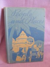 Vtg Book People and Places Horn McBroom Bishop Childrens Reading