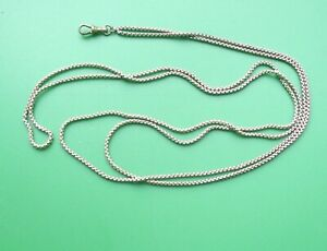 """VINTAGE GOLD COLOURED MUFF TYPE CHAIN 56"""" LONG WITH DOG CLIP"""