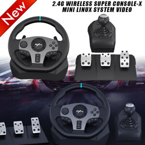 PXN V9 Racing Steering Wheel Pedals Gear Shifter Driving Perfect for Xbox One PC