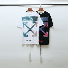OFF-WHITE C/O limited 19/SS Men Women multicolor Gradient Arrow T-Shirt OW74