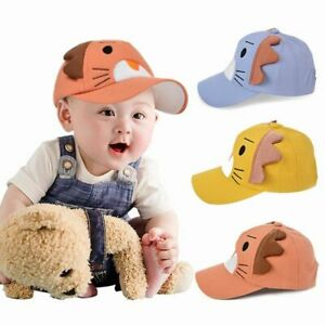 Kids Cartoon Lion Baseball Baby Caps Soft Cotton Adjustable Embroidered Sun Hats
