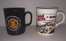 EPL Manchester United pair of mugs Football Club English soccer team