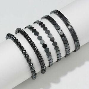 Magnetic Hematite Beads Adjustable Bracelet Bangle Lose Weight Jewelry Gift Hot