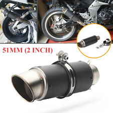 51mm / 2 Inch Universal Motorcycle Scooter Carbon Fiber Exhaust Pipe Muffler Tip