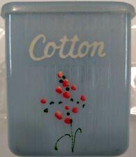 Vintage Clarolyte Plastic Baby Nursery Box Blue - Cotton 1950s