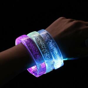 Rave Party LED Bracelet Bubble Flashing Light Up Glow BUY 1 GET 1 Free UK