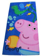 "Telo mare asciugamano bagno piscina ""Peppa Pig"" 70 x 140 bimba"