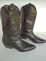 Van Eli East Black Leather Western Cowboy Boots Women's Size 8 N