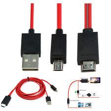 2m MHL Micro USB a HDMI 1080P Cavo Adattatore per Samsung Galaxy S5 S4 S3 Note 3