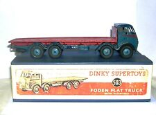 Dinky GB 502 blu/red Foden Flat Truck 1st cab boxed RR. OFFERTA !