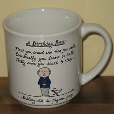 Happy Birthday Poem Coffee Mug Cup Old Age Funny Dale