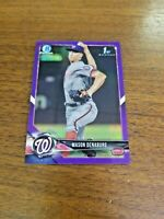 MASON DENABURG 2018 BOWMAN DRAFT BD-164 NATIONALS (FIRST ROOKIE REFRACTOR) #/250