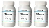 D-Mannose 1500mg/500mg High Potency 1/2/3 BIG Bottles 120/240/360 Capsules