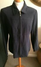 WALLACE  PETITE  FULLY LINED NAVY BLUE ZIP FRONT JACKET SIZE 12