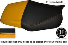 Amarillo Y Negro Automotriz Vinilo personalizado para Honda CBR 600 F Dual 91-96 Funda De Asiento