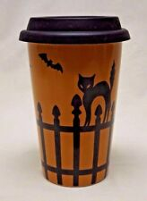 Longaberger Pottery Halloween Travel Cup with Lid, Certificate and Box Come See!