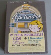 GROS COFFRET 2 DVD BEST OF 2006 2009 LA TOURNEE DES IDOLES AGE TENDRE + 1 LIVRE