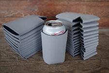 LOT of 25 Silver GREY Can Holders Huggies Blank Beer Soda Coolers Printable