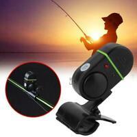 Fishing Alarm Electronic LED Fish Bite Sound Alarm Bell Fishing Clip UK On J5K4