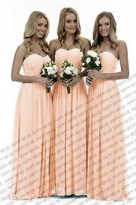 New Sweetheart Neckline Chiffon Bridesmaid Dress Evening Dress Stock Size 6+++24