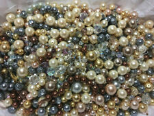 LOT OF VINTAGE VINTAGE CZECH GLASS PEARLS, AB BEADS & MORE- C30