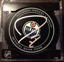Jordan Eberle Signed /Autographed Edmonton Oilers Game Puck. New York Islanders