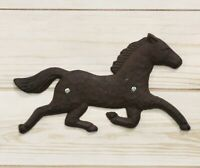 Cast Iron Rustic Western Country Running Wild Horse Wall Hanging Accent Decor 9""