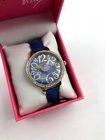 Betsey Johnson Women's Lightening Bolt Gold Tone Watch BJ00658-04BX, New W/ Box