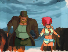 Dirty Pair Anime Cel Production Background Kei Cuffed Animation TV Series 1985