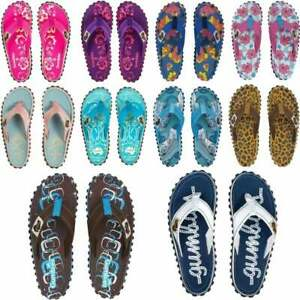Gumbies ISLANDER Ladies Womens Canvas Toe Post Beach Surf Summer Flip Flops