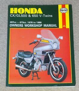 Haynes Honda CX/GL500 & 650 V-Twins 1978 -1986 Owners Workshop Manual 442