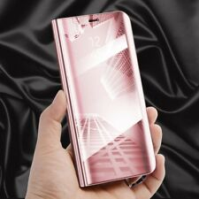 para Samsung Galaxy J6 J600 2018 Transparente Ver Smart Funda Rosa Bolsa Wake Up