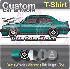 Custom T-shirt 90 1990 1991 91 92 1992 VW Jetta MK2 MkII GLi GTX 2.0 16v Sedan