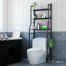 Etagère de Salle de Bain, Meuble de Rangement au-Dessus des Toilettes WC,noir